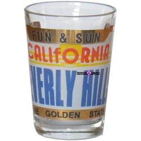 California Beverly Hills Fun Sun Shot Glass Schnapps Glasses