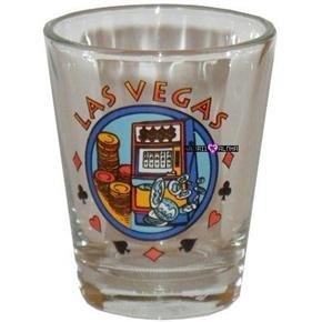 Las Vegas Fabulous Slots Casino Shot Glass Schnapps Glasses