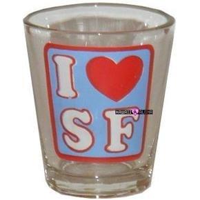 I Love San Francisco California Shot Glass Schnapps Glasses