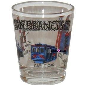 San Francisco Cable Car Shot Glass Schnapps Glasses