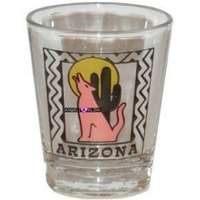 Arizona Desert Shot Glass Schnapps Glasses USA