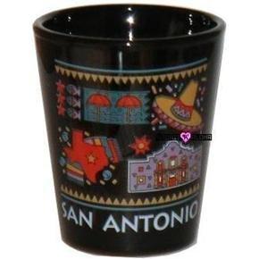 San Antonio Texas Shot Glass Schnapps Ceramic Glasses USA