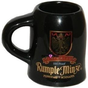 Rumple Minze Beer Shot Glass Mug Peppermint Schnapps Glasses