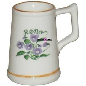 Reno Flowers Beer Shot Glass Mug Schnapps Glasses