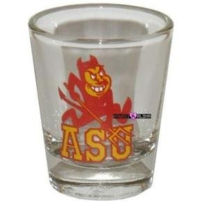 ASU Arizona Sun Devils Football Shot Glass Schnapps Glasses