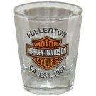 Harley Davidson Fullerton Biker Shot Glass Schnapps Glasses