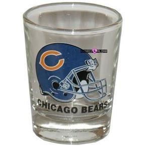 Chicago Bears Football Shot Glass Schnapps Glasses