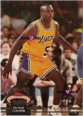 Topps Stadium Club Duane Cooper Lakers Basketball Rookie Card 1993