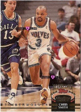 Topps Stadium Club Chris Smith Wolves Basketball Rookie Card 1993