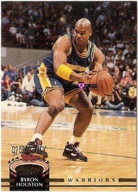 Topps Stadium Club Byron Houston Basketball Rookie Card 1993