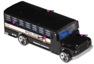 Hot Wheels Police Bus Prisoner Transport 1988 Black