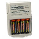 POWER2000    AA BATTERIES & CHARGER FOR CANON S1 S2 A530 A540 A710