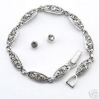 Trifari Bracelet and Earring Set
