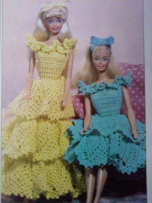 L@@K! *RUFFLES DOLL DRESSES* - NEW CROCHET PATTERN