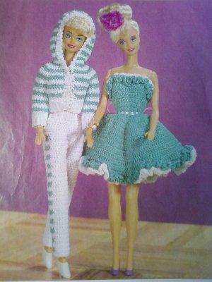 L@@K! *SNAPPY PANTSUIT & RUFFLED DOLL DRESS*- PATTERN