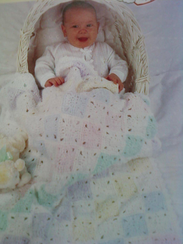 L@@K! *TERI SQUARES* BABY  BLANKET- NEW CROCHET PATTERN