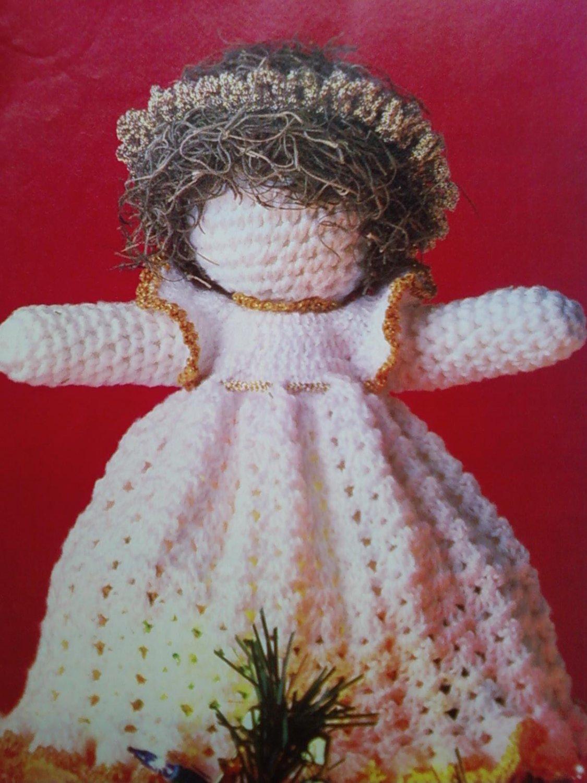 L@@K! *COUNTRY TREASURES TREETOP ANGEL*-CROCHET PATTERN