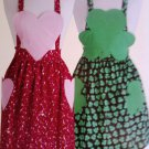 L@@K! CHARMING NEW HEART & SHAMROCK APRONS- SEW PATTERN