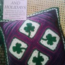 LOOK!   LOVELY SHAMROCK PINWHEEL PILLOW - NEW CROCHET PATTERN