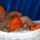 L@@K! DARLING 3PC-PUMPKIN BABY SET - COSTUME/PHOTO PROP
