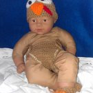 "L@@K!  ADORABLE ""3PC-TURKEY HAT,DIAPER COVER, BOOTIES SET""-COSTUME & PHOTO PROP"