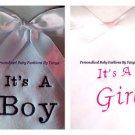 L@@K! ADORABLE CUSTOM PERSONALIZED MONOGRAM BABY BLANKETS-INFANT/NEWBORN (0-3MO)
