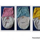 L@@K! DARLING PERSONALIZED MONOGRAM BABY SWADDLE BLANKETS-INFANT/NEWBORN (0-3MO)