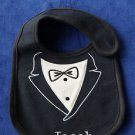 "L@@K! ""PUTTING ON THE RITZ"" CUSTOM PERSONALIZED MONOGRAM REBORN BABY TUXEDO BIB"
