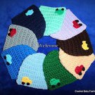 LOOK! ADORABLE REBORN  BABY HATS W/ CAR - HAND CROCHET- SIZES:  PREEMIE, 0-3 MOS