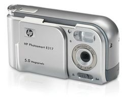 HP Photosmart E317 5MP Digital Camera