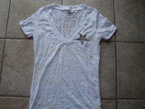 OES v-neck burn-out shirt