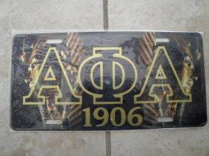 Alpha Phi Alpha-license tag