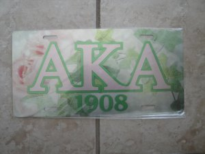Alpha Kappa Alpha-license tag