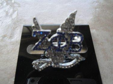 ZPB rhinestone dove pin
