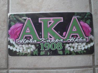 AKA license tag (black)