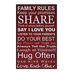 Wall Plaque Family Rules CHWP29