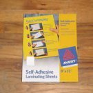 10 Self Laminating Sheets Avery 73603 Adhesive 3mil