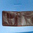 Genuine leather men's wallet bi-fold burgandy 6 credit card slots, made in USA