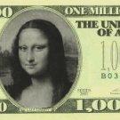 Personalized $1,000,000 novelty bill money one million dollar fake funny gag