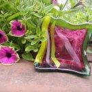 Glass Picasso Petunia Bowl #1
