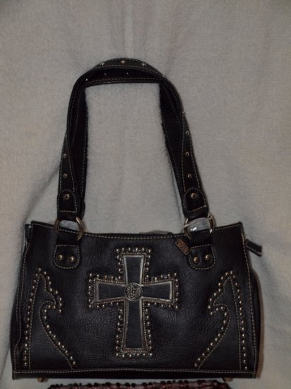 Black hand back with accenting cross