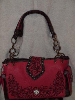 Hot pink western handbag