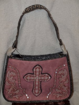 Pink bag with accenting gray