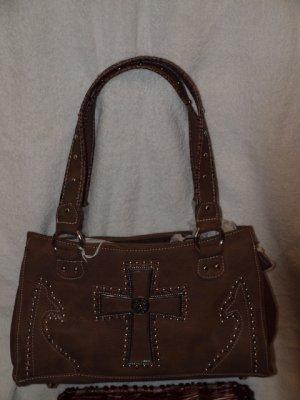 Tan cross handbag