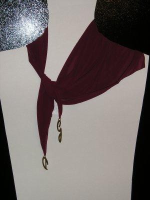 Dolce $ Gabbana D$G silk scarf maroon