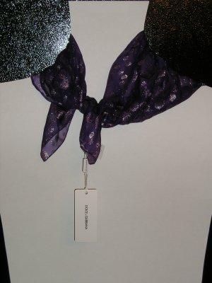 DOLCE & GABBANA Purple Silk Scarf