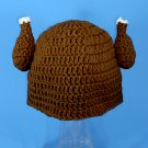 Jive Turkey Thanksgiving Hat, Crochet Brown Beanie, Send Size Baby - Adult