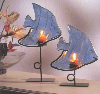 Light Blue Fish on Stand