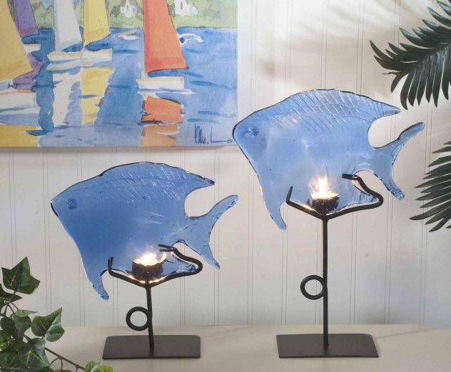 Dark Blue Glass Fish