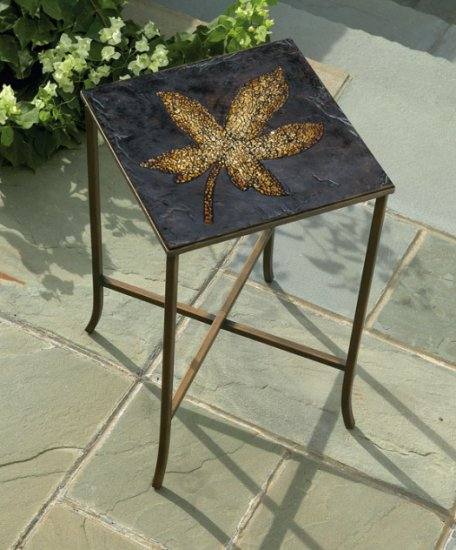 Large Gold Leaf Table